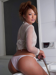Rumika Asian doll with such hot ass enjoys shower over clothes - Japarn porn pics at JapHole.com