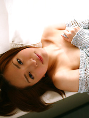 Ryoko Tanaka Asian shows leering curves in the window daylight - Japarn porn pics at JapHole.com