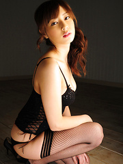 Natsuki Ikeda Asian with big boobs in corset is simply appetizing - Japarn porn pics at JapHole.com