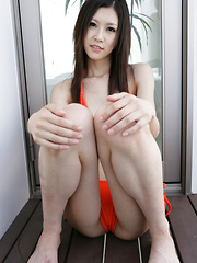 Kotone Amamiya Asian in kinky outfit shows naughty ass outdoor - Japarn porn pics at JapHole.com