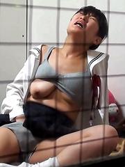 SCHOOL GIRL FINGERS - Japarn porn pics at JapHole.com